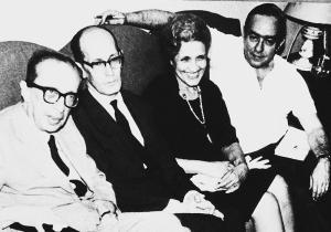 Com Manuel Bandeira, Carlos Drummond de Andrade e Cecilia Meirelles